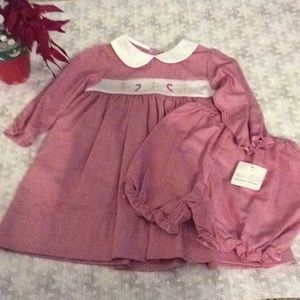 NWT NURSERY RHYME CHRISTMAS DRESS WITH BLOOMERS